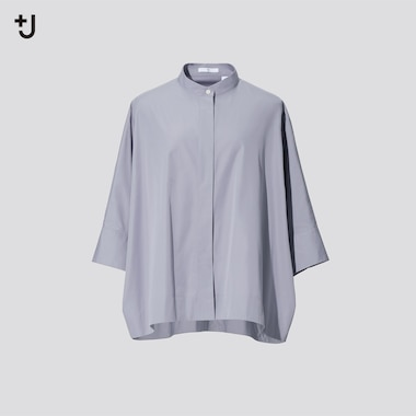Women +J Supima Cotton Dolman 3/4 Sleeved Shirt
