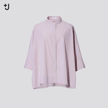 Damen +J SUPIMA BAUMWOLLE Bluse mit weiten 3/4-Ärmeln