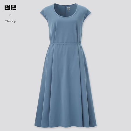 Robe Theory Ultra Stretch Manches Courtes Femme
