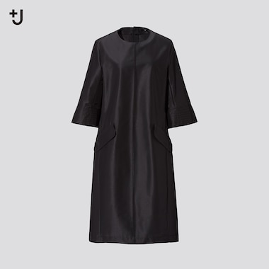 Damen +J Technoseide Kleid mit Halbarm