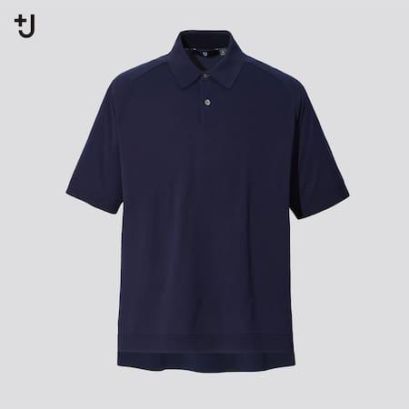 Men +J Silk Cotton Blend Knit Polo Shirt