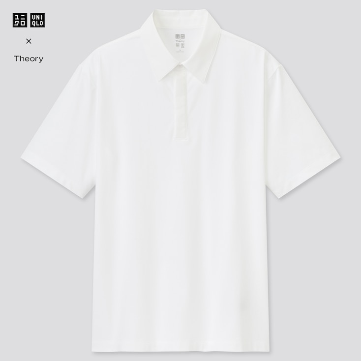 Men Airism Slim-Fit Short-Sleeve Polo Shirt (Theory), White, Large