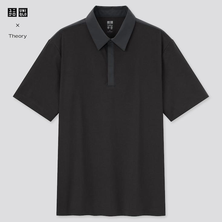 Men Airism Slim-Fit Short-Sleeve Polo Shirt (Theory), Black, Large