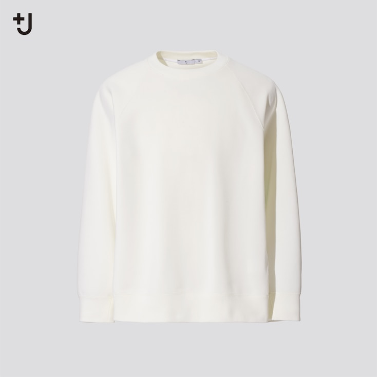 Men +J Dry Sweatshirt, Off White, Large