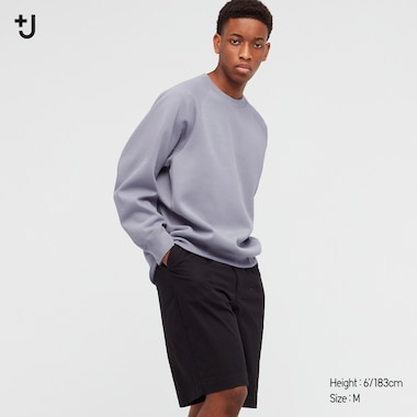 Men +J Dry Sweatshirt, Gray, Medium
