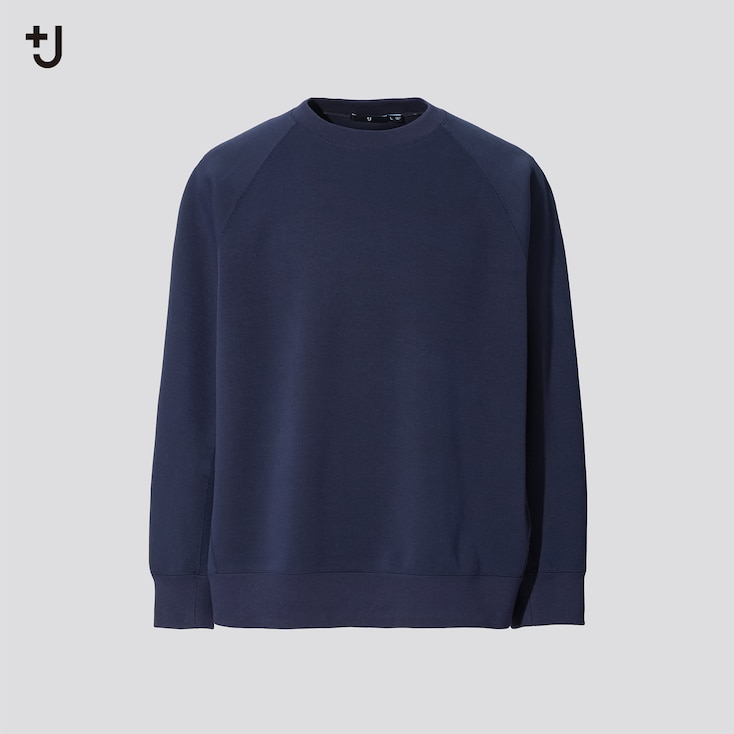 Men +J Dry Sweatshirt, Navy, Large