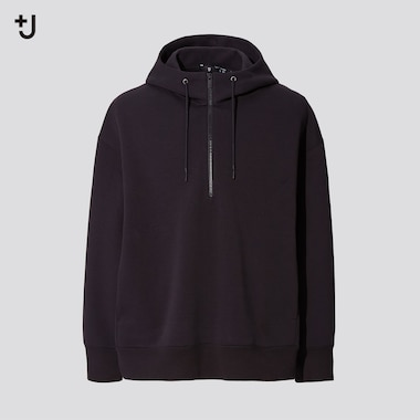 Men +J Dry Sweat Half-Zip Pullover Hoodie, Black, Medium