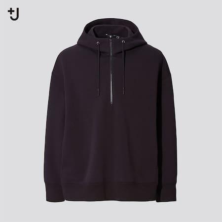 Men +J DRY Sweat Zipped Pullover Hoodie