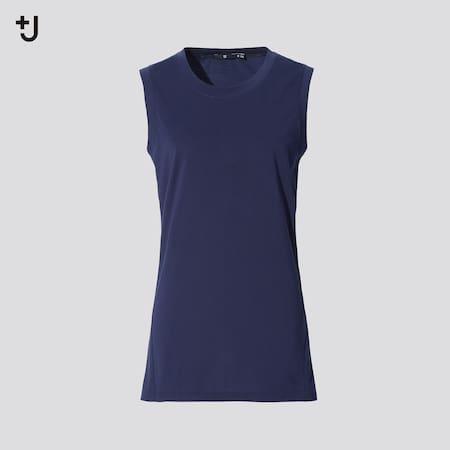 Mujer +J Camiseta Algodón Supima Elástica Sin Mangas