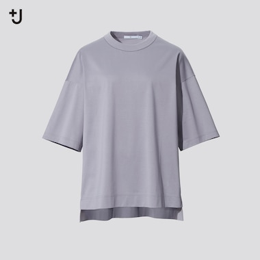 Damen +J SUPIMA BAUMWOLLE T-Shirt mit Halbarm (Loose Fit)