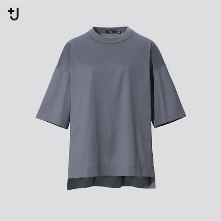 Women +J Supima Cotton Loose Fit Half Sleeved T-Shirt