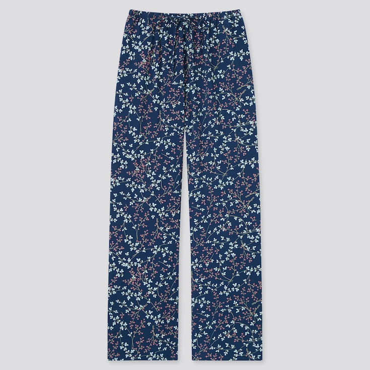WOMEN DRAPE PRINTED STRAIGHT PANTS