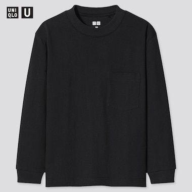 Kids Uniqlo U Crew Neck Long Sleeved T-Shirt