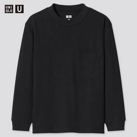 T-Shirt Uniqlo U Girocollo Maniche Lunghe Bambino