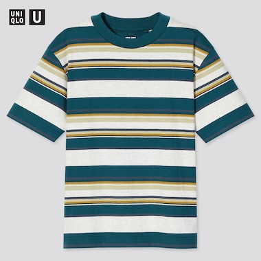 Kids U Striped Short-Sleeve T-Shirt, Green, Medium