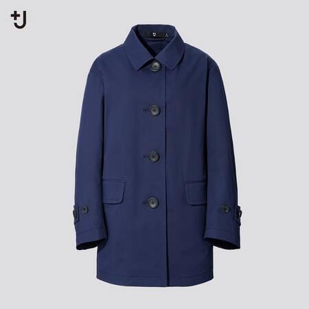 Damen +J Kurzer Mantel mit verstärktem Kragen