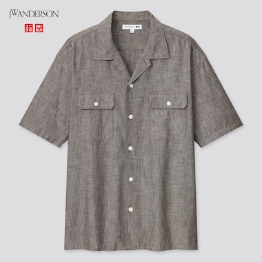Men JW Anderson Chambray Short Sleeved Work Shirt