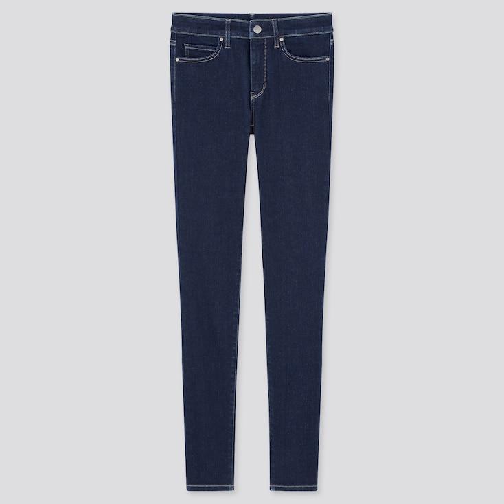 Women Ultra Stretch Jeans, Navy, Large