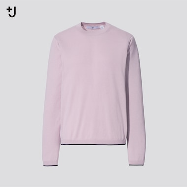 Women +J Silk Cotton Blend Crew Neck Jumper