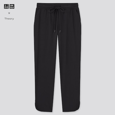 Women Ultra Stretch Active Ankle-Length Pants (Theory), Black, Medium