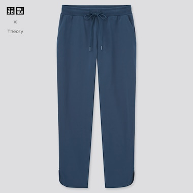Women Ultra Stretch Active Ankle-Length Pants (Theory), Blue, Medium