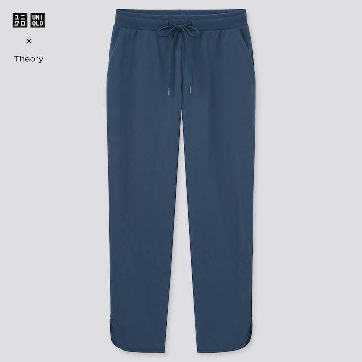 Women Ultra Stretch Active Ankle-Length Pants (Theory), Blue, Large