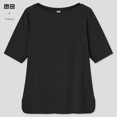 Women Theory AIRism Boat Neck Half Sleeved T-Shirt