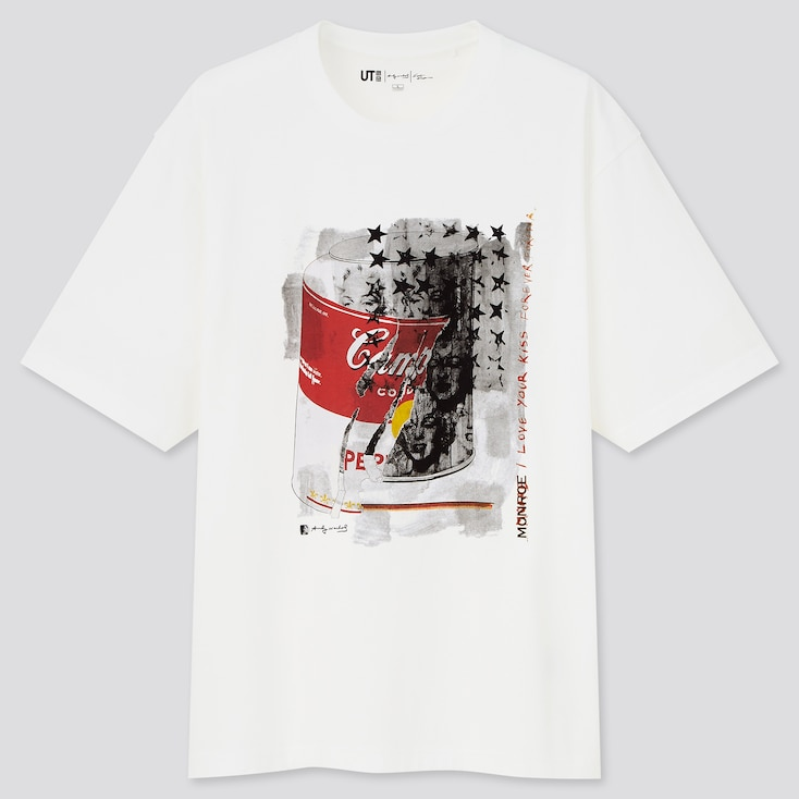 Andy Warhol X Kosuke Kawamura Ut (Short-Sleeve Graphic T-Shirt), White, Large