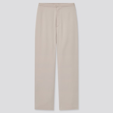 Women Satin Relaxed Fit Straight Leg Trousers