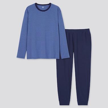 Men Ultra Stretch Striped Long Sleeved T-Shirt Set