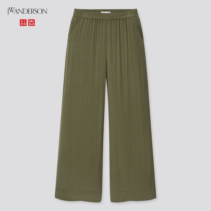 Women Easy Wide Pants (Jw Anderson), Olive, Large