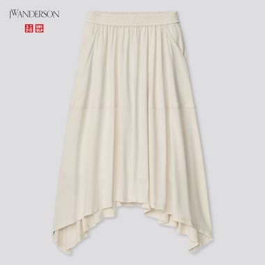 Women Design Hem Skirt (Jw Anderson), Natural, Medium