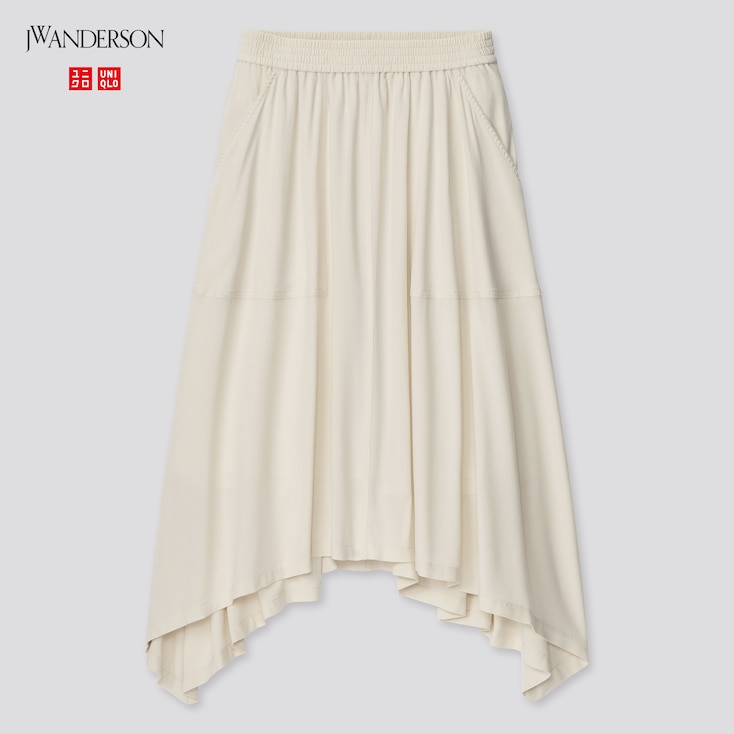 Women Design Hem Skirt (Jw Anderson), Natural, Large