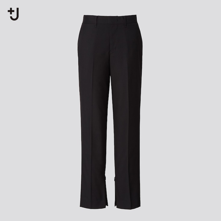 Women +J Wool Slim Pants, Black, Large