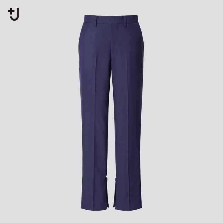 Women +J Wool Slim Pants, Blue, Large