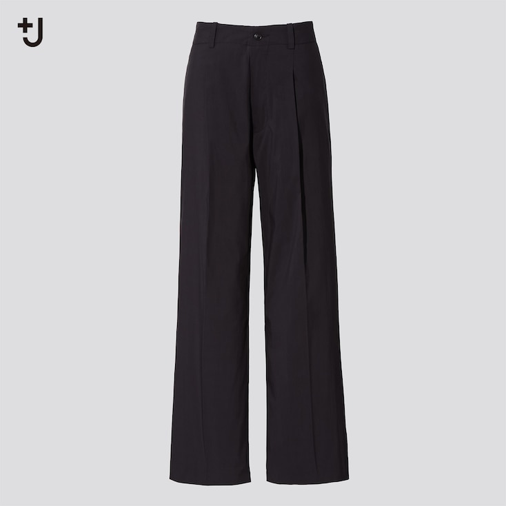 Women +J Wide Pants, Black, Large