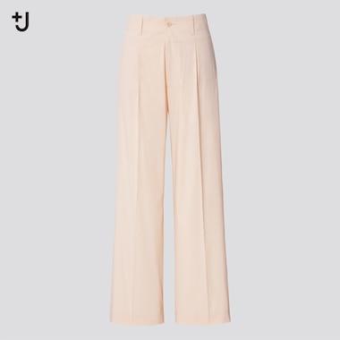 Women +J Wide Pants, Natural, Medium