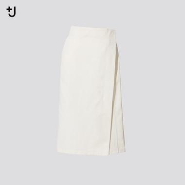 Women +J Cotton Linen Blend Wrap Skirt