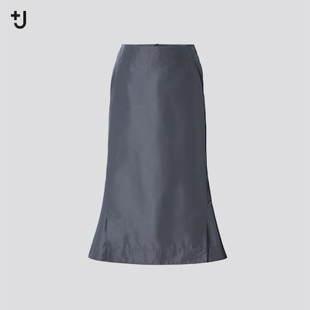Women +J Silk Blend Flared Skirt