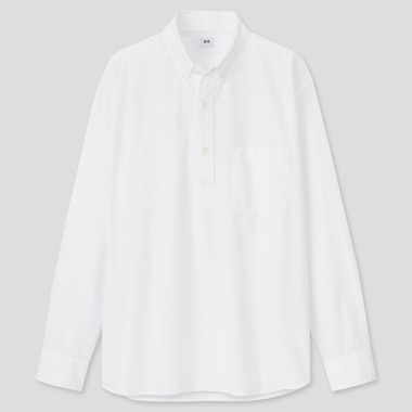 Men Extra Fine Cotton Broadcloth Regular Fit Pullover Shirt
