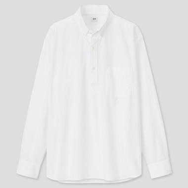 Herren Extra feine Baumwolle Hemd mit halber Knopfleiste