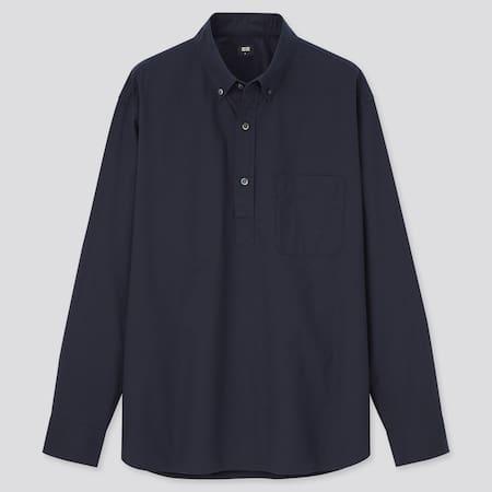Men Extra Fine Cotton Broadcloth Regular Fit Pullover Shirt