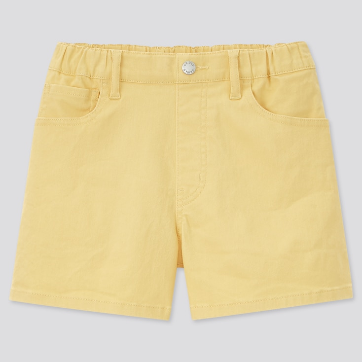 Girls Easy Shorts (Online Exclusive), Yellow, Large