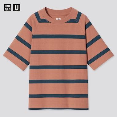 Kids U Striped Short-Sleeve T-Shirt, Orange, Medium