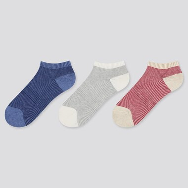 Kids Short Socks (3 Pairs), Blue, Medium