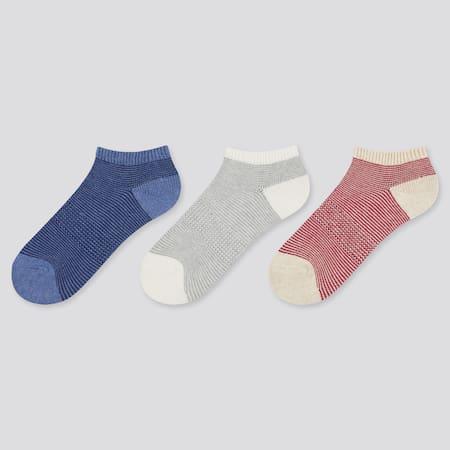 Kids Striped Ankle Socks (Three Pairs)