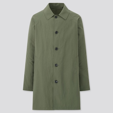 Men Pocketable Half Length Coat