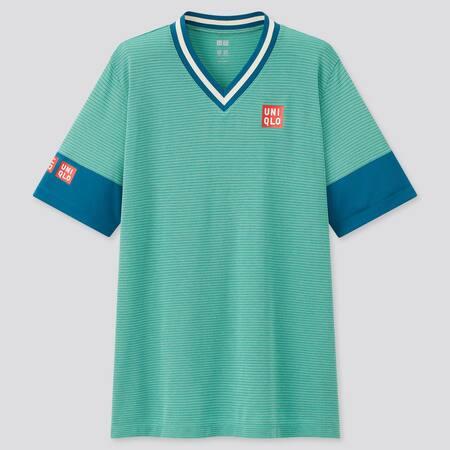 Herren Kei Nishikori DRY-EX T-Shirt mit V-Ausschnitt