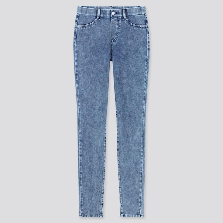 Women Ultra Stretch Denim Leggings Pants (Tall) (Online Exclusive), Blue, Large