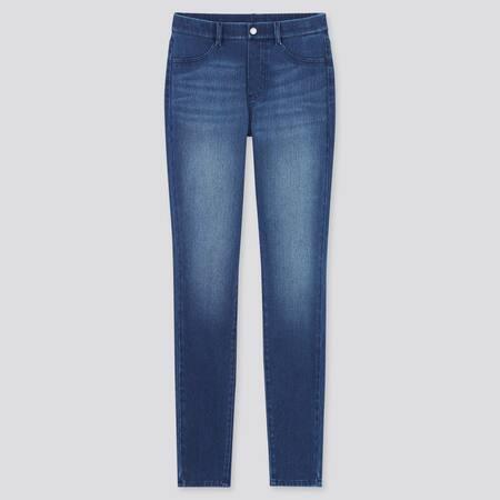 Women Ultra Stretch Denim Leggings Trousers